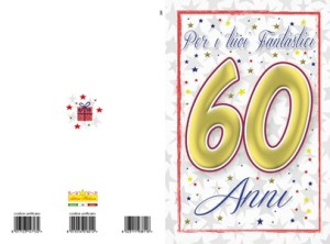 Cod 148 Compleanno 60 Anni Unisex Editrice Hedison