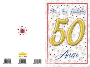 Cod. 155 Compleanno 50 anni unisex   Editrice Hedison